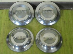 52 53 54 Ford Dog Dish Hub Caps 10 1 2 Set Of 4 Poverty Hubcaps 1952 1953 1954