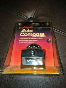 New Vintage Airguide Scottsdale 1601 Lighted Dashboard Auto Compass Usa Made