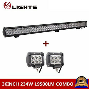 36inch 234w Led Work Light Bar Combo Offroad 4wd Ford Suv 2x 18w Pods Cube Lamp