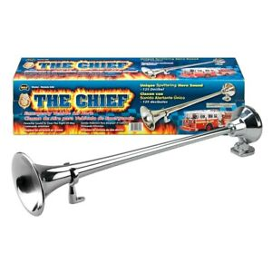Wolo 846 The Chief Chrome Sputtering Emergency Sound Air Horn