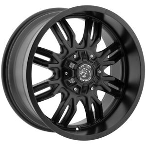 4 18 Inch Panther Offroad 580 18x9 6x120 6x5 5 12mm Gloss Black Wheels Rims