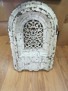 Antique Victorian Cast Iron Wall Grate Register Arch Top Heat Ventilation 5249c