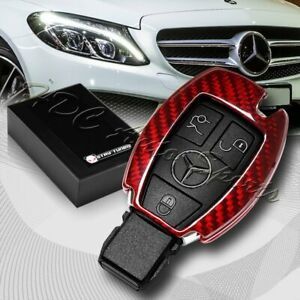 For Mercedes Benz W203 W210 W211 Real Red Carbon Fiber Remote Key Shell Cover