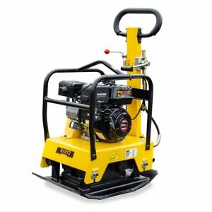 6 5hp Reversible Gas Walk Behind Vibratory Plate Concrete Compactor Rammer C125