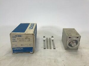 Omron H3m Timer Series B 120vac 0 60hz New Open Box