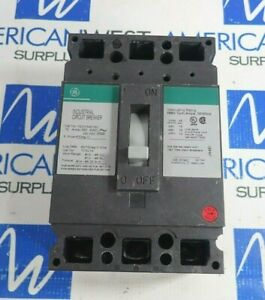 General Electric Ted134015v 3 Pole Circuit Breaker 15a 480v tested