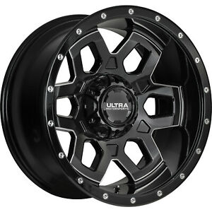 4 20x10 Black Milled Warlock 6x135 6x5 5 25 Wheels Terra Grappler G2 Tires