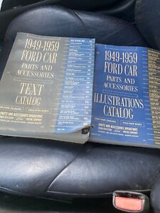 Original 1949 1959 Ford Car Parts Accessories Catalogs Text Illustrations