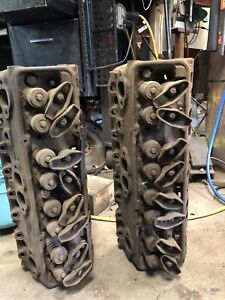 Two 1970 Z 28 350 Cylinder Heads Chevy Camaro Double Hump 3927186