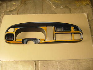 98 99 00 01 Dodge Ram 1500 2500 3500 Radio Dash Trim Panel Bezel Black Woodgrain
