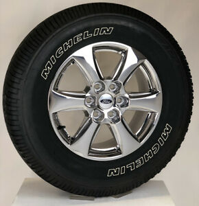 Ford F150 18 Chrome Wheels Michelin Tires New Takeoff Set For 2004 2019 Fx2 Fx4