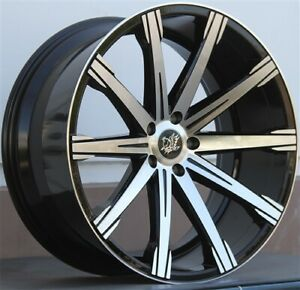 Set 4 22x9 22x10 5 5x120 Wheel Tire Pkg Bmw Bmw F01 F02 740 750 760 2009 15