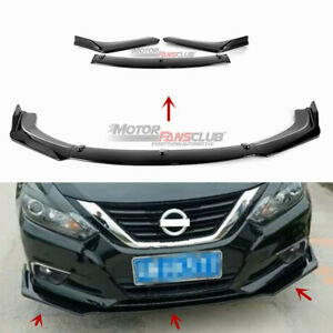 Front Bumper Lip Cover Spoiler For Nissan Altima Sedan 2016 2018 Carbon Fiber