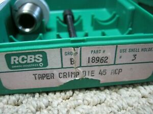 RCBS Taper Crimp Seater Die 45 ACP45 GAP 18962
