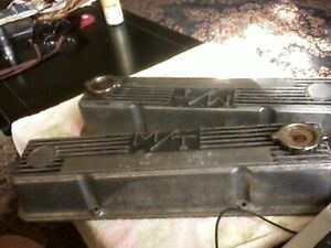 Vintage Mickey Thompson M T Valve Covers Chevy Small Block 103r 50b Cast Alu