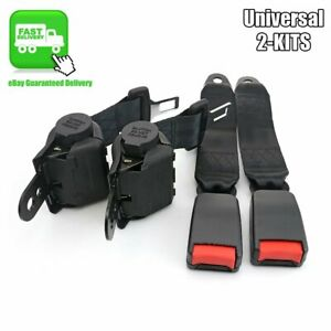Fits Chevy Retractable Seat Belt Strap Extender Buckle Seatbelt Universal Cars