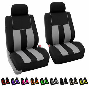 Universal Fitment Seat Covers For Sedan Suv Van Front Bucket Pair Set