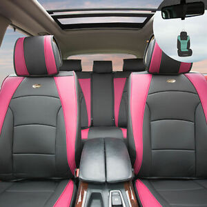 Luxury Leather Bucket Seat Covers Set For Car Suv 10 Colors W Free Gift