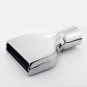Single 3 Inlet Exhaust Tip Slant Cut Roll Edge Rectangle Out Stainless Steel