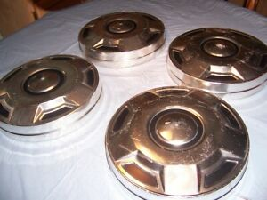 4 Vintage 1973 80 Chevy Truck 10 Dog Dish Poverty Hubcaps Wheel Covers Set