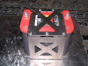 Qty Two Optima 75 25 Battery Box Yellow Red Top Tray Offroad Stainless Steel