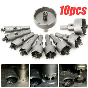 10packs Carbide Tip Tct Drill Bit Hole Saw Kit Stainless Metal Alloy set 16 53mm