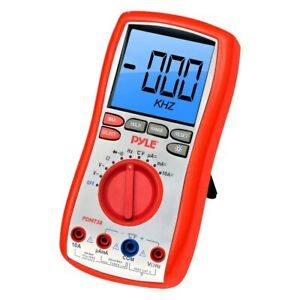 Pyle Digital Lcd Multimeter W Test Leads Stand