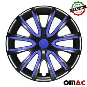 15 Inch Hubcaps Wheel Rim Cover Glossy For Chevrolet Black Dark Blue 4pcs Set