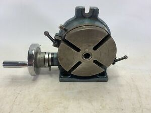 Yuasa 550 046 6in Horizontal Vertical Rotary Table Great Working Condition