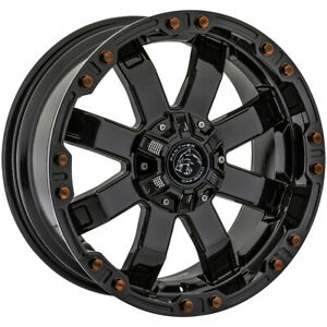 4 Panther Offroad 678 20x9 6x4 5 6x5 5 12mm Gloss Black Wheels Rims 20 Inch