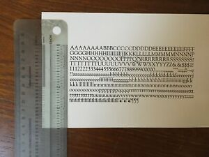 New Letterpress Type 18pt Goudy Old Style