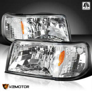 For 93 97 Ford Ranger Clear Led Strip 1pc Style Headlights signal Corner Lamps