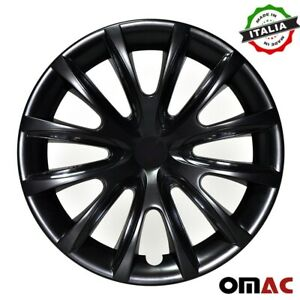 15 Inch Hubcaps Wheel Rim Cover For Nissan Glossy Black Insert 4pcs Set