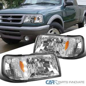 For 93 97 Ford Ranger Clear Led Headlights corner Turn Signal Lamps Left right