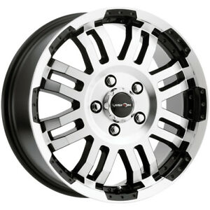 4 vision 375 Warrior Van 16x6 5 5x130 45mm Black machined Wheels Rims 16 Inch