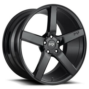 Staggered Niche M188 Milan Front 20x8 5 rear 20x10 5x120 Gloss Black Wheels Rims