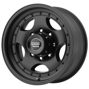 4 american Racing Ar23 16x8 8x6 5 0mm Satin Black Wheels Rims 16 Inch
