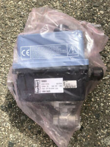 B rkert 3003 Electric Rotary Actuator With 1 4 Ball Valve Attached