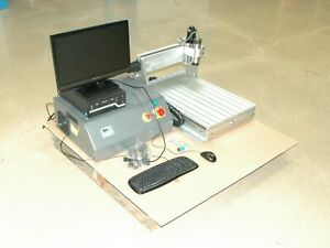 3 Axis Cnc Router Package With Computer Monitor And Accessories