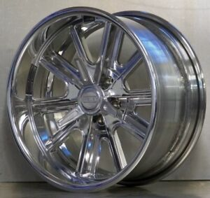 20x12 American Racing Vn407 Custom Polished Shelby Cobra Wheels Ford Mopar