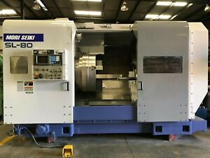 Mori Seiki Sl 80 Cnc Turning Center 23 Chuck 10 5 Big Bore Lathe Fanuc Sl
