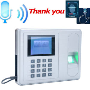 Biometric Lcd Attendance Machine Fingerprint Password Time Clock Reader2 4 S3h5