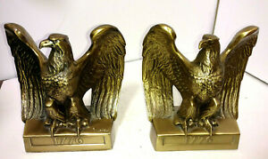 Antique Bookends 1776 Brass American Eagle By Philadelphia Mfg Co Pmb 114b