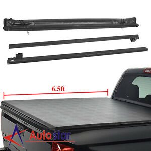 Soft Roll Up Tonneau Cover For 2014 2018 Silverado Sierra 6 5ft Short Bed New