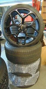 Camaro 2016 up Z28 20 Oem Wheel Rims Cosmo Tires Staggered set Of 4