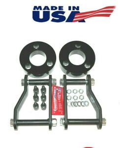 Fits Nissan Frontier 2005 2019 F R 3 2 5 Lift Kit Spacers Shackles 4wd Blk