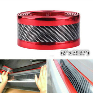 Car Stickers Parts Accessories Carbon Fiber Rubber Car Welcome Pedal Protector