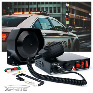 Xprite 200w G2 Siren Pa System With Handheld Microphone Light Control Switches