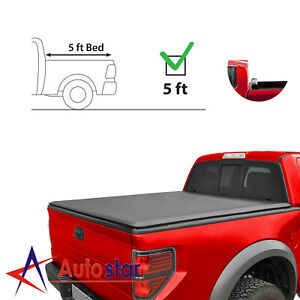 Soft Roll Up Tonneau Cover Fits For 2016 2019 Toyota Tacoma 5ft 60 Inch Bed