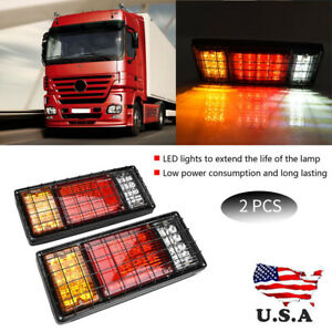 2pcs 40 Led Tail Lights 12v Brake Reserve Trailer Truck Boat Indicator Lights